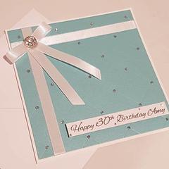 Elegant Turquoise Birthday Card