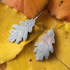 Hand made Oak Leaf Earrings