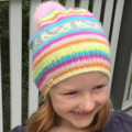 SALE! Soft Rainbow Fair Isle Beanie with Pom-pom | Kids beanie
