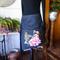 Black denim short wrap skirt