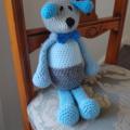 Dani Bear : crochet, safe, OOAK, washable, baby shower, boy