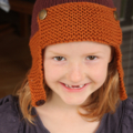 SALE!  Aviator hat in organic cotton wool blend | toddler beanie