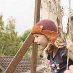 SALE!  Aviator hat in organic cotton wool blend | toddler beanie
