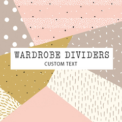 Add on listing - Wardrobe dividers custom text option.