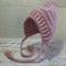 Dusty Rose Newborn Crochet Baby Pixie Bonnet