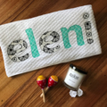 Mum's and Bub's Gift Pack - Personalised Towel and Scented Soy Candle