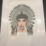 girl in  headdress