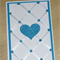 Boys Christening / baptism / Naming Day Card - Blue - heart or cross