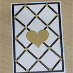 Engagement Wedding anniversary Card - black and gold