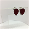 Clip On Earrings - Dark Red Teardrop FREE POSTAGE