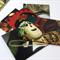 Handmade Envelopes (5), Gothic Skeleton, Halloween Skull, Snail Mail Stationery