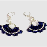 Silver and Black Dangle Earrings
