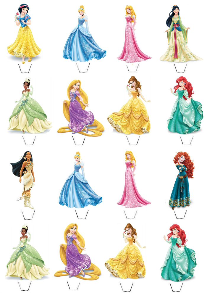 It is an image of Comprehensive Disney Princess Cupcake Toppers Free Printable