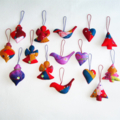 15 Felted Christmas Decorations 3 Angels 3 Trees 3 Baubles 3 Birds 3 Hearts