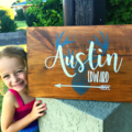 Custom made timber Name Sign, baby, nursery, kids room, rustic deer head