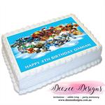 Skylanders Giants Personalised A4 Edible Icing Cake Topper