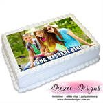 Photo Personalised A4 Edible Icing Cake Topper