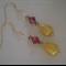 Tear Drop Gold Earrings