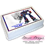 Transformers Optimus Prime Personalised A4 Edible Icing Cake Topper