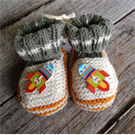 Rocket cotton knitted baby booties