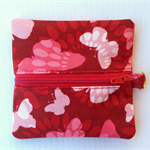 Red Butterfly Coin Purse
