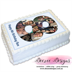 Birthday Collage Photo Personalised A4 Edible Icing Cake Topper
