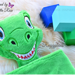 Minky Dinosaur 'Ruggybud' - personalised, comforter, keepsake, lovey.