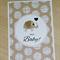 Neutral Baby Card - boy or girl - cute elephant - Hello Baby!