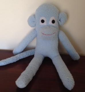 Sock Monkey - Light Blue