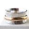 Tree Bark Spinner Ring, Sterling Silver & 14K Gold Filled Wedding Band