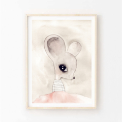 Lina Mouse - Children's art. Watercolour ballerina mouse with tutu. A4 Print