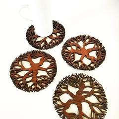 Tree Mandala Jarrah Coasters