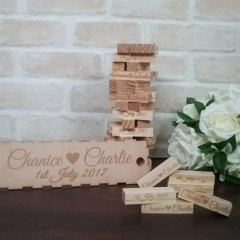 Jenga Guest book, Guest book alternative, wedding jenga, guestbook, jenga blocks