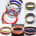 Mixed media bangle set (set of 6)