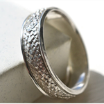 Dragon Scale Wedding Band, Personalised Sterling Silver Ring, Men's Jewellery