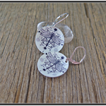 GEO DRAGONFLY, DYE SUBLIMATION GRAPHIC PRINTED EARRINGS