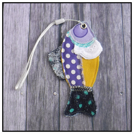 FISH BAG TAGS BOOKMARKS
