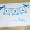 Boys 1st Birthday Card - ONE - blue or green - personalised!