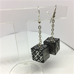 Black and White Cube Earrings Free Postage