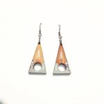 Tasmanian Myrtle Triangle Earrings - Light Grey