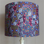 Aboriginal Fabric Lampshade | Dancing Spirit | 30 x 20cms