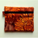 Gold/Orange Batik Purse