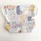 Super Cute cat print Drawstring bag, cotton bag, knitting project bag.