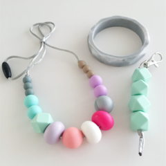 Washable MIX Bead Silicone Necklace GIFT SET