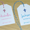 Christening - Baptism Communion  - Naming Day Tags - pink or blue