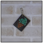 ART TAGS GIFT TAGS HAND PAINTED ICE CREAM CONE