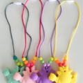 Washable Silicone Necklace for Kids - Dinosaur