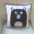 Woodland Bear nusery cushion