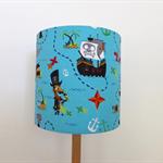 Pirate Lampshade | Blue | Boy's Room Decor | Treasure Chesr