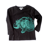 Long Sleeve Tee - Green Turtle Print